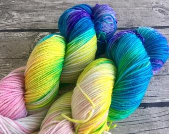 Faith, Trust, and Pixie Dust - Hand Dyed Superwash Merino Yarn - Sport Weight Yarn - Hand Dyed Yarn