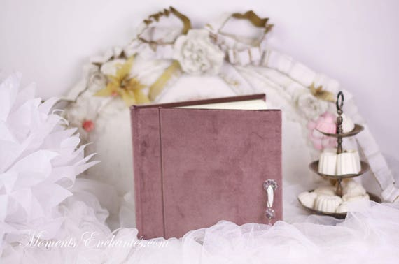 Guest book Note book secret book or guest book velvet mothers' Day