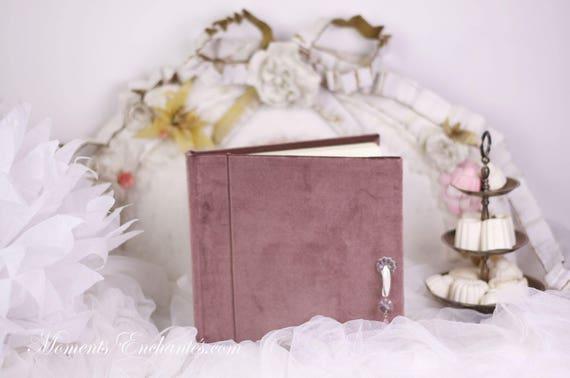 Guest book Note book secret book or guest book velvet