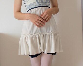 Coutil corset top boned toile de jouy