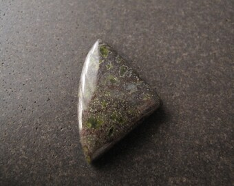 1pc Moss Agate 27x25mm Free Form Cabochon, Green Natural Flat Back Cabochon - CG-55-742