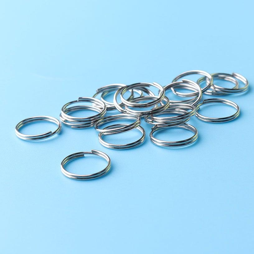 100pcs TINY O-Rings silver tone metal O-Rings hoops Sterling silvwe ...