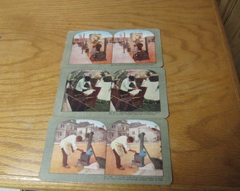 c-1906  Disaster  Stereographs San Francisco Earthquake . #1015 #1016—#1017--