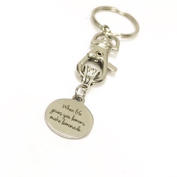 Encouragement Gifts, When Life Gives You Lemons Make Lemonade Keychain, Motivational Gifts, Direct Sales Team Gifts, Positivity Gift For Her