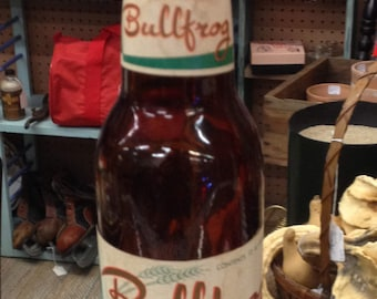 Vintage Bullfrog Beer Bottle,12 oz, Monarch Brewery Chicago Illinois, RARE 1950's