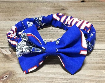 NY Giants Headband- Giants Headband; Giants Bow; Giants Headwrap; Baby Headband; Baby Bow; Bow Headband; Football Headband; Hair Clip