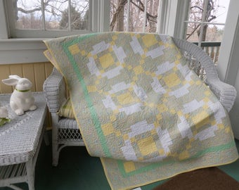 Yellow and Green Lap Quilt