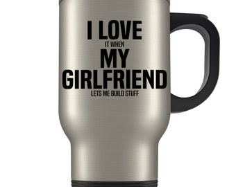 Carpenter gift, carpenter travel mug, funny carpenter gift, carpenter gift for boyfriend, carpentry gifts for men, carpentry, I love my gf