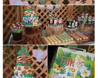 Jungle Party Printable | Instant Download | Jungle Birthday Decorations | Jungle Party Decorations | Wild One Birthday Epic Parties by REVO