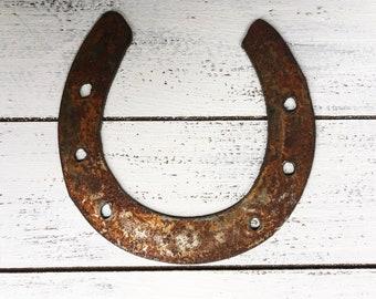"Horseshoe- 6"" Rusty Metal HORSESHOE! Make your own Sign, Gift, Art!"