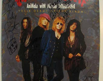 Enuff Znuff Signed by All 4 to Cameron Crow Promo Poster Debut Animals with Human Intelligence Album, Jerry Maguire Movie