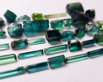110 Carats Blue & Bicolor Tourmaline Crystals from Afghanistan