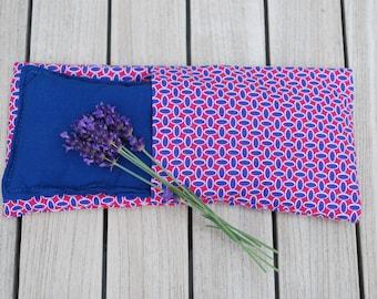 Eye pillow for yoga and meditation with lavender and flaxseed, yoga eye pillow, lavender eye pillow, eye mask, aromatherapy eye pillow