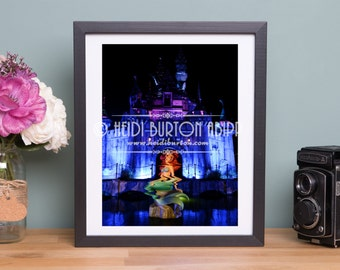 Photographic Art Print of Banksys the mermaid and Dismaland Castle.  Colour wall art, poster print, choose your size.