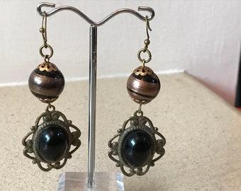 Fashion Dangling Earring Black antique style