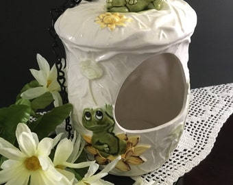 Neil the Frog Vintage Sears & Roebuck Planter/Birdhouse/Candle Holder