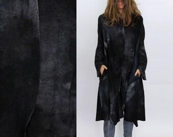Women knit coat, Super light coat, Gray wool oversized cardigan, dark gray felted coat, dark gray knit coat, loose cardigan, plus size coats