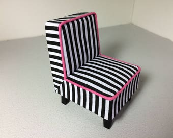 Modern Miniature Dollhouse Occasional Chair 1:12 Scale