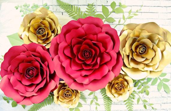 Giant paper flower backdrop paper roses paper flower mightylinksfo
