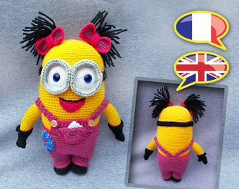 CROCHET tutorial/pattern: Miss Minion