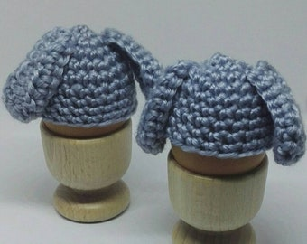 Bunny egg cosy - egg warmer - egg hat - cute Easter - egg hunt filler - Easter breakfast - Easter bunny - blue Easter breakfast