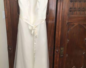 Ivory Organza Halter Dress