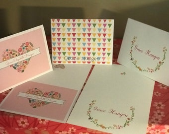 Girlie Personalized Notecards