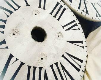 "30"" Spool clock faces"