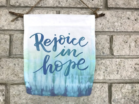 Rejoice in Hope Small Canvas Banner