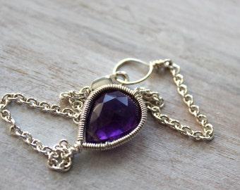Amethyst Delicate Bracelet -February Birthstone- Bff Gift - Birthstone Jewelry -Gemstone Jewelry -