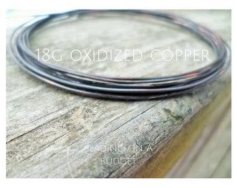 18 Gauge Oxidized Copper Wire-Dead Soft-Round-5-100 Feet