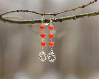 Red Vampire Earrings - Vampire Fangs - Vampire Jewelry - Vampire Teeth - Gothic Earrings - Gift For Goth - Dark Fashion - Spooky Jewelry