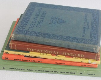 Vintage book journal--you choose the book // Vintage School Spelling Books // Recycled Book by PrairiePeasant
