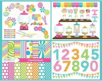 Clipart Bundle - Candy Land / Sweets - Digital Clip Art (Instant Download)