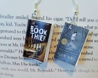 Book Earrings - The Book Thief and Miss Peregrine's Home for Peculiar Children