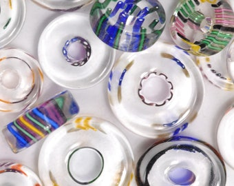 Donut Slices David Christensen Furnace Glass Beads (29A)