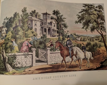 Currier and Ives, American Country Life, May Morning, Print