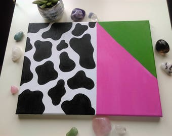 A Cows Favorite Color - Original Canvas Art - ( XL )
