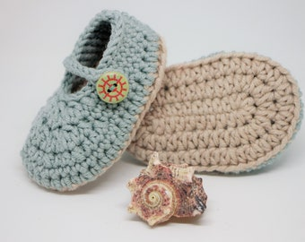 Seaside Stories Mary Janes for Newborn