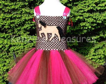 Horse/ Cowgirl Tutu Dress ~ Size NB to 24 Months ~ Can Be Customized with Different Colors