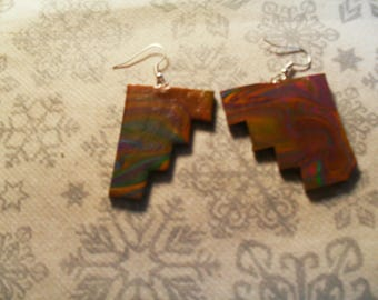 gorgeous pair of earrings unique, stylish, original Brown and multicolor