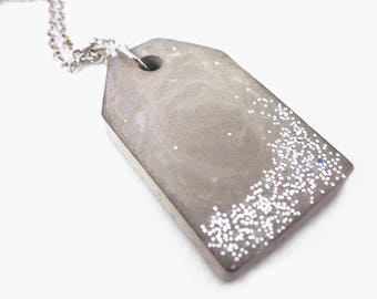Concrete Glitter Necklace