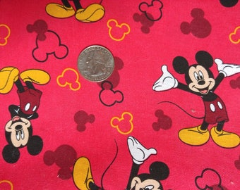 Fabric BTY Mickey Mouse and Icons Toss by Springs Creative