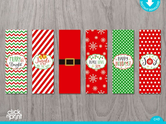 Christmas nugget chocolate wrapper print yourself christmas for Diy candy bar wrapper