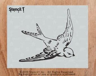 Swallow Stencil- Reusable Craft &DIY Stencils- S1_01_01 - 8.5x11- By Stencil1