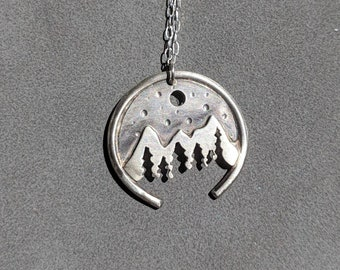 Sterling Silver Mountain Range