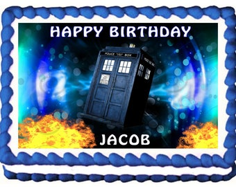 DOCTOR WHO Image edible cake topper party