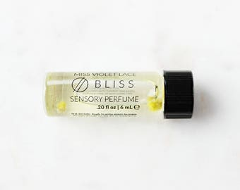 BLISS perfume SAMPLE | Sensory Perfume with Rose, Citrus, Coconut and more | 100% natural and vegan