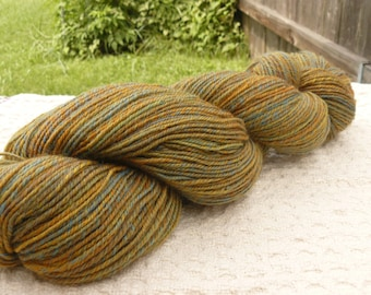 Handspun Sock Yarn 'Prairie' 290 yards Merino/BFL wool
