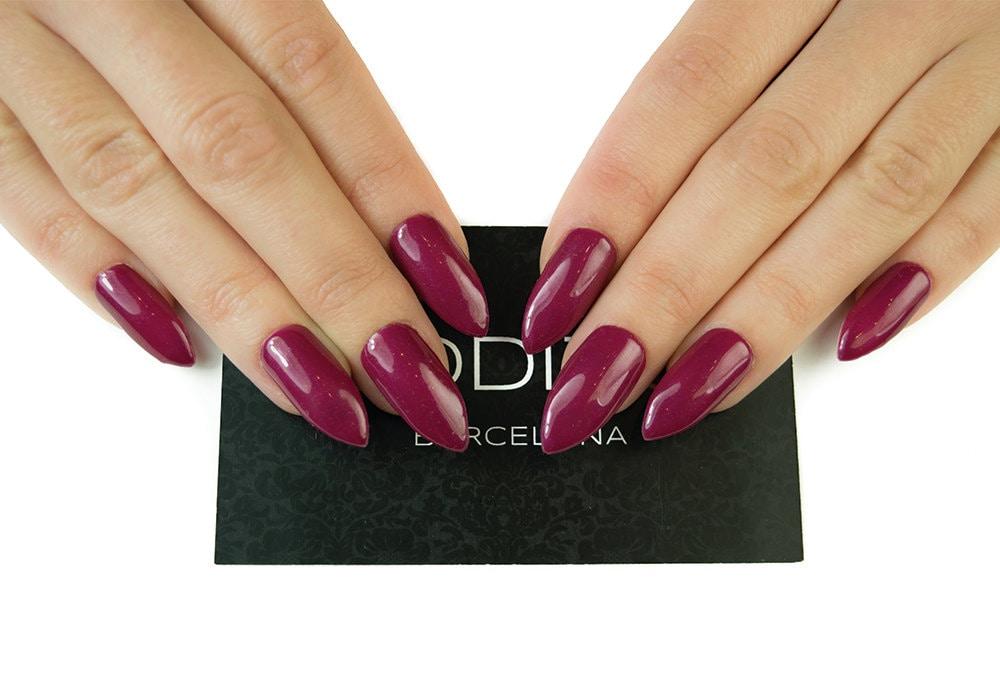 Burgundy Press On Nails, UV Gel Stiletto Nails, Fake Nails, False ...